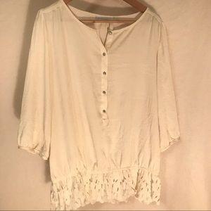 Cream New York & Company blouse -size M